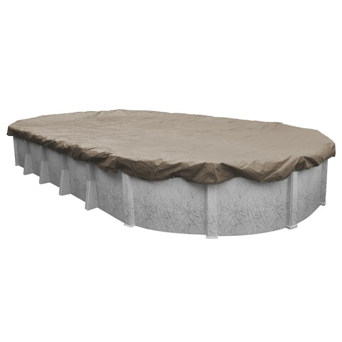 Pool Mate Sandstone Above Ground Winter Pool Cover for Oval Pools