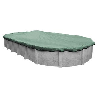 Pool Mate Extreme-Mesh Above Ground Winter Pool Cover for Oval Pools