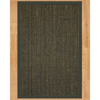 Handcrafted Chateau Sisal 2' x 3' Rug - Black