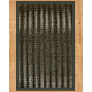 Handcrafted Chateau Sisal 5' x 8' Rug - Black with Bonus Rug Pad