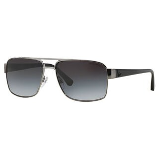 Emporio Armani Men's EA2002 Metal Rectangle Sunglasses