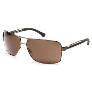 Emporio Armani Men's EA2001 Metal Rectangle Sunglasses