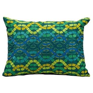 "Mina Victory by Nourison Fantasia Blue Pillow (13"" x 17"")"