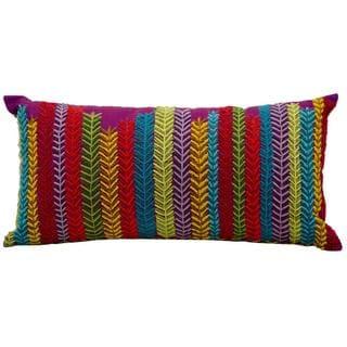 "Mina Victory by Nourison Fantasia Purple Pillow (10"" x 20"")"