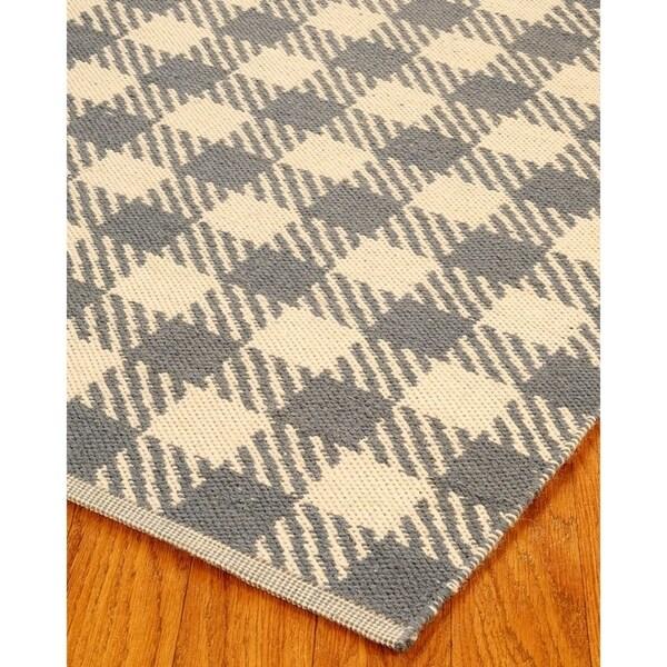 Hand Woven Washington Dhurrie Wool 6' x 9' Rug