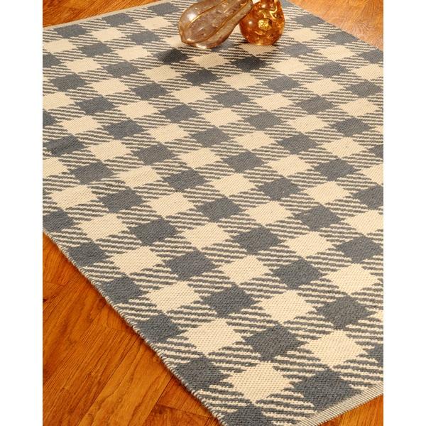 Hand Woven Washington Dhurrie Wool 6' x 9' Rug with Bonus Rug Pad
