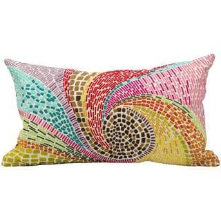 "Mina Victory by Nourison Fantasia Multicolor Pillow (12"" x 20"")"