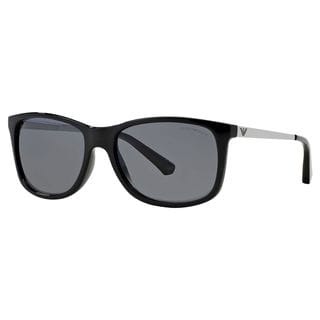 Emporio Armani Men's EA4023 Plastic Square Polarized Sunglasses