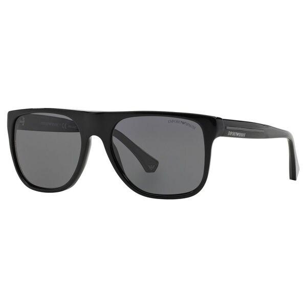 9244f9dfc04 Emporio Armani Men  x27 s EA4014 Plastic Square Polarized Sunglasses - Black