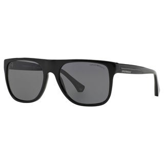 Emporio Armani Men's EA4014 Plastic Square Polarized Sunglasses