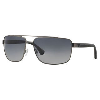 Emporio Armani Men's EA2018 Metal Square Polarized Sunglasses