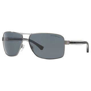 Emporio Armani Men's EA2001 Metal Rectangle Polarized Sunglasses