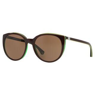 Emporio Armani Women's EA4043 Plastic Round Sunglasses