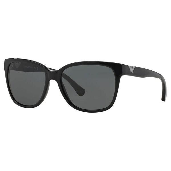 d043bd629c Emporio Armani Women  x27 s EA4038 Plastic Cat Eye Sunglasses - Black