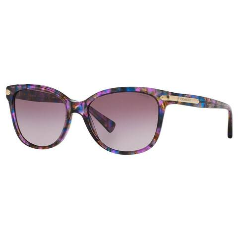 Coach Women's HC8132 L109 52888H Plastic Cat Eye Sunglasses - Purple