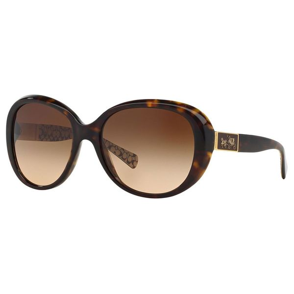 0208cde8fc Coach Women  x27 s HC8120 L094 Carter 526213 Brown Round Plastic Sunglasses  - Tortoise