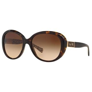 Coach Women's HC8120 L094 Carter 526213 Brown Round Plastic Sunglasses
