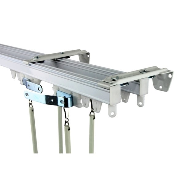 Heavy Duty White Wall Or Ceiling Double Curtain Track
