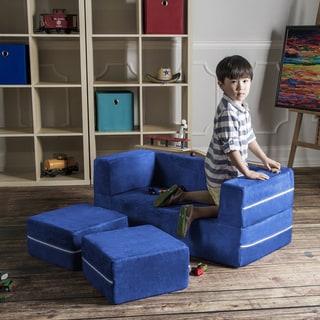 Link to Jaxx Zipline Modular Kids Loveseat with Ottomans Similar Items in Kids' & Toddler Chairs