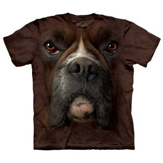 Men's Boxer Dog Face Cotton T-shirt