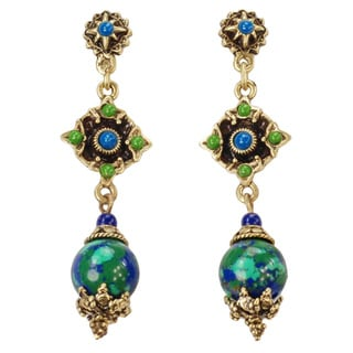Sweet Romance Blue Green Southwest Earrings