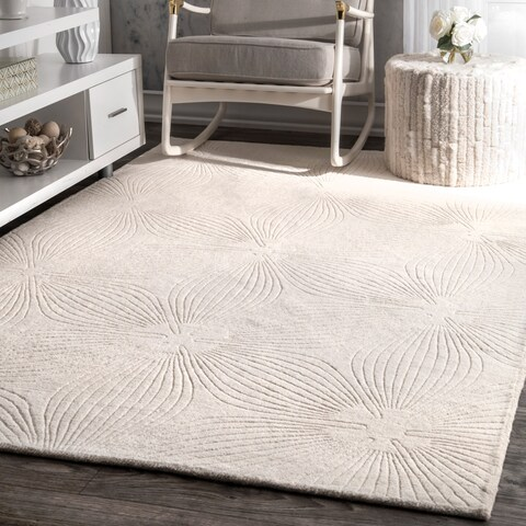 nuLOOM Hand-woven Abstract Fancy Wool Area Rug