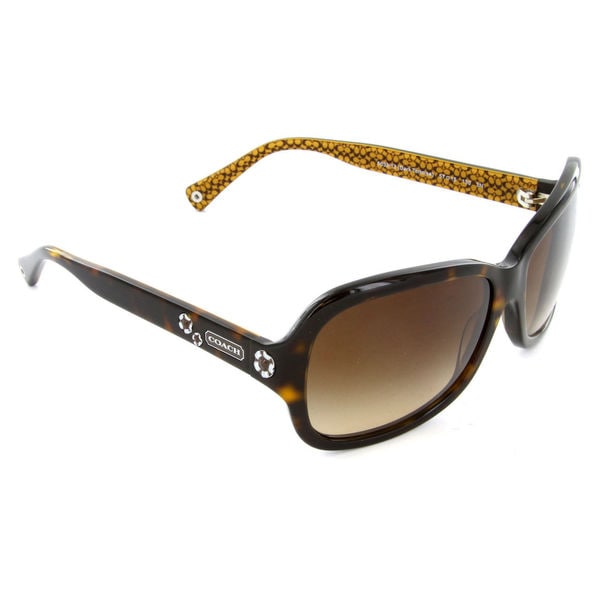 dcef5a3b9d Coach Women  x27 s HC8016 L008 Ciara 503313 Plastic Rectangle Sunglasses -  Tortoise