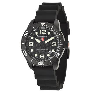 Swiss Military Men's 'marlin' Black Stainless Steel Swiss Quartz Watch|https://ak1.ostkcdn.com/images/products/10324986/P17435673.jpg?impolicy=medium
