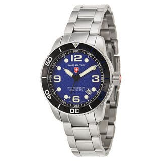 Swiss Military Men's 'marlin' Stainless Steel Swiss Quartz Watch|https://ak1.ostkcdn.com/images/products/10324987/P17435674.jpg?impolicy=medium