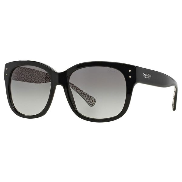 4a7d6c91db Coach Women  x27 s HC8086 L074 Sienna 521411 Plastic Square Sunglasses -  Black -