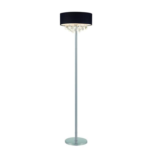 Elegant Designs Romazzino Trendy Cascading Crystal/ Chrome Floor Lamp