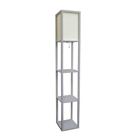 Porch & Den Victorine Floor Lamp Etagere Organizer Storage Shelf