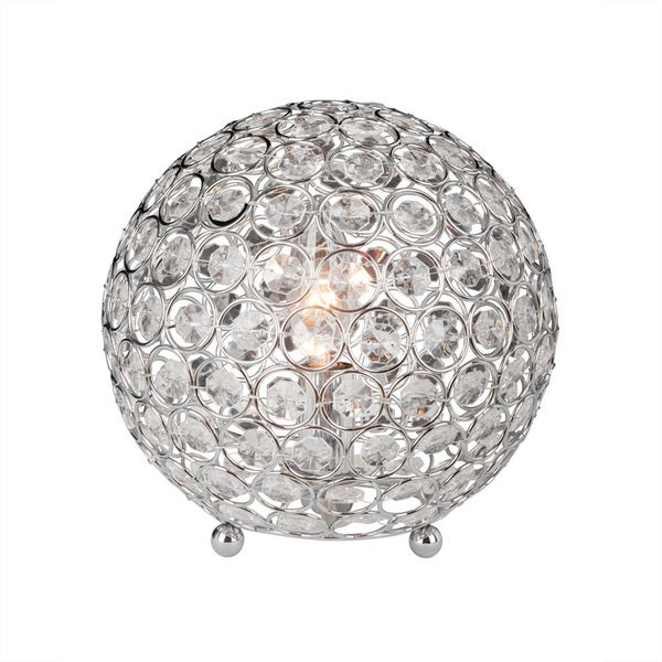 modern ball keyword glass ester lamp contemporary table stacked crystal allmodern