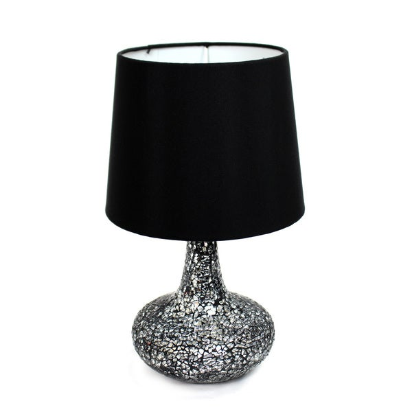 Simple Designs Mosaic Tiled Glass Genie Table Lamp Free