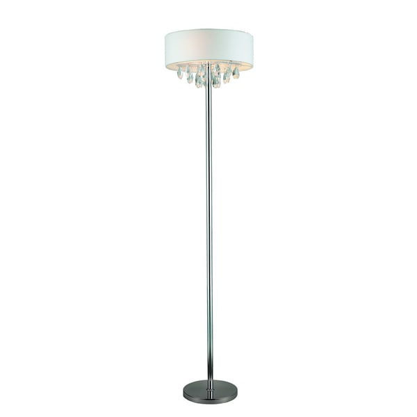 Elegant Designs Romazzino Trendy Cascading Crystal/ Chrome Floor Lamp
