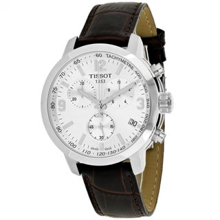 Link to Tissot Men's T0554171603700 'PRC 200' Chronograph Brown Leather Watch Similar Items in Men's Watches