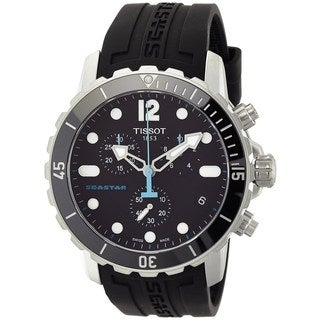 Tissot Men's T0664171705700 'Seastar' Chronograph Black Rubber Watch