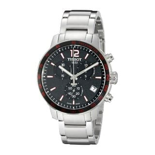 Tissot Men's T0954171105700 'Quickster' Automatic Chronograph Stainless Steel Watch|https://ak1.ostkcdn.com/images/products/10325049/P17435657.jpg?impolicy=medium