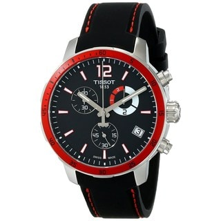 Tissot Men's T0954491705701 'Quickster' Chronograph Black Silicone Watch