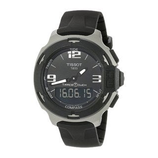 Tissot Men's T0814209705701 'T-Race Touch' Black Rubber Watch