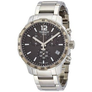 Tissot Men's T0954171106700 'Quickster' Chronograph Stainless Steel Watch|https://ak1.ostkcdn.com/images/products/10325059/P17435665.jpg?impolicy=medium