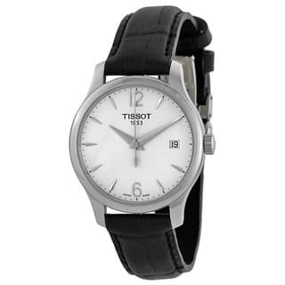 Tissot Women's T0632101603700 'T-Trend Tradition' Black Leather Watch|https://ak1.ostkcdn.com/images/products/10325085/P17435751.jpg?impolicy=medium