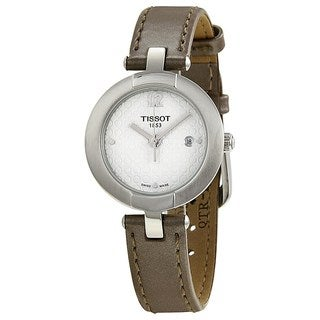 Tissot Women's T0842101601701 'T-Trend Pinky' Brown Leather Watch