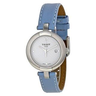 Tissot Women's T0842101601702 'T-Trend Pinky' Blue Leather Watch