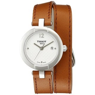 Tissot Women's T0842101601704 'T-Trend Pinky' Brown Leather Watch
