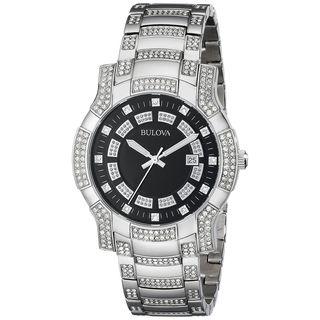 Bulova Men's 96B176 Crystal Stainless Steel Watch