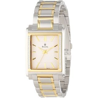 Bulova Men's 98E111 Diamond Two-Tone Stainless Steel Watch