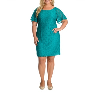 Rabbit Rabbit Rabbit Designs Women's Plus Size Crochet Dress