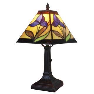 Buy purple tiffany style lighting online at overstock our best amora lighting tiffany style mission design mini table lamp purple aloadofball Choice Image