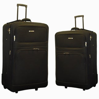 Hercules Alexa 2-piece Expandable Large Checked Luggage Set